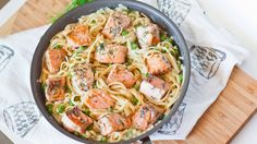 Tender chunks of salmon served on a bed of pastacoated in a creamy white wine sauce! This salmon fettuccine recipe is full of flavors and you can have it ready in 30 minutes; perfect dinner even on a week day! Make this with any type of pasta and substitute the peas with steamed asparagus or […]