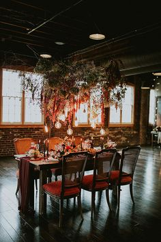 Woodland Tablescape Inspiration in an Industrial Loft (Ruffled) Industrial Cafe, Industrial Windows, Industrial Apartment, Industrial Bedroom, Industrial Interiors, Industrial Lighting, Industrial Closet, Industrial Bookshelf, Industrial Restaurant