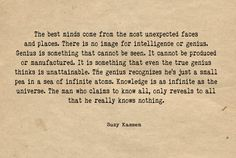 The best minds. Suzy Kassem