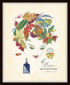 Vintage perfume ad. Love for the bathroom