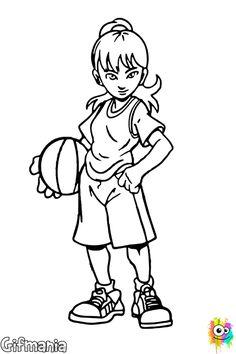 Jugador De Baloncesto baloncesto deporte baloncestista dibujo Pinterest