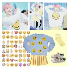 """Smiley - Woozi (Seventeen)"" by woozikitten ❤ liked on Polyvore featuring adidas, Oasis, Whitehorse Couture, kpop, seventeen, kpopinspired and woozi"