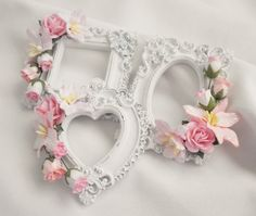 Handmade Shabby Chic Cottage Rose & Lily Resin Frames by Becky #ShabbyCottageChic