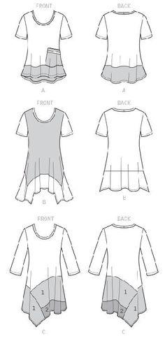 Sew Flattering Asymmetrical Hemlines using McCalls M7413 by Nancy Zieman | Nancy…