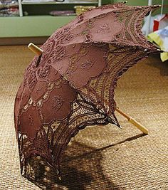 Brown Laced Umbrella
