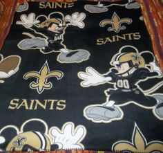 "Disney's Mickey Mouse NFL New Orleans Saints Lightweight Fleece Throw 40"" x 50"" #NewOrleansSaints"