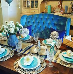 #dining #table #nautical #tablescape #tablesetting
