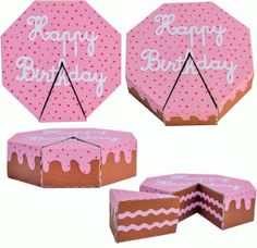 Silhouette Design Store - View Design #60499: 3d cake with slice cut