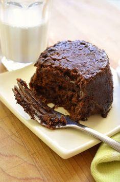 Two Minute Chocolate Peanut Butter Cake - for the new single servings pan or also could be done in the prep bowls