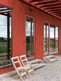 Ekoladan   White Arkitekter Wood Facade, Stair Steps, Decks And Porches, Wooden House, Facade Architecture, House In The Woods, Home And Garden, Cottage, Patio