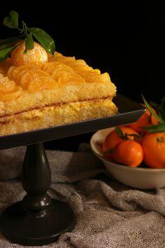 Bizcocho de mandarina con curd de limón y mandarina