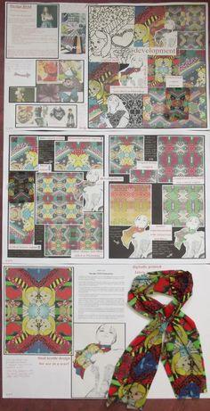 s4 national 5 design folio, 2D textile design