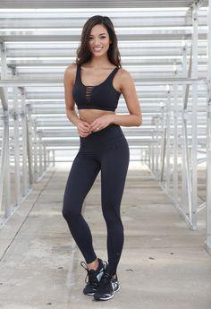Black Emana Zip Legging