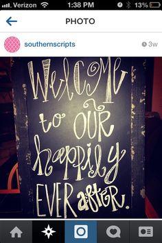 Outdoor wedding chalkboard sign