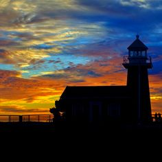 Lighthouse Point in Santa Cruz, CA. Silently watching over surfers and all those it surveys from its ocean-side perch.