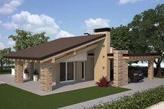 Immagine correlata Facade Design, Exterior Design, Architecture Design, Online Architecture, Village House Design, Village Houses, Simple House Plans, Dream House Plans, Dream Home Design