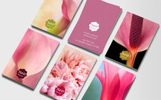 Moo business cards - perfect for a florist. Consider how this could be applied to any other business.