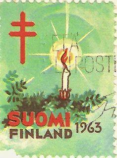 Kirjeitä myllyltäni: Joulumerkkejä ja vähän muitakin Stamp Collecting, Postage Stamps, Finland, Nostalgia, Childhood, Scrapbook, Christmas Ornaments, Retro, My Love