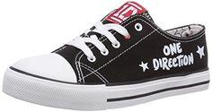 One Direction Girls Teens Low Sneakers, Mädchen Sneakers, Mehrfarbig (BLK BLACK), 37 EU - http://on-line-kaufen.de/unbekannt/37-eu-one-direction-low-maedchen-sneakers-3