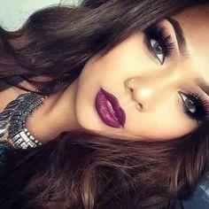 Smokey eye Dark eyeshadow Vampy lip