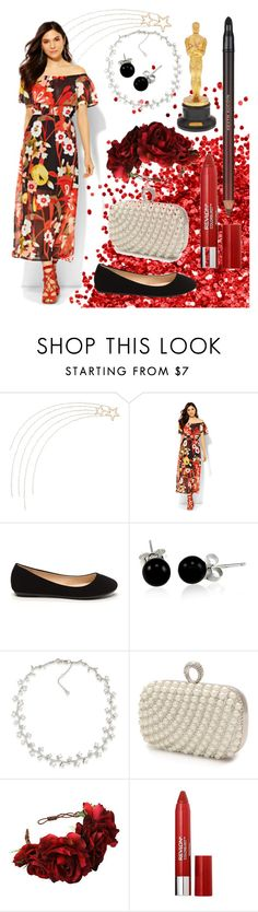 """""""Red Carpet Ready!"""" by aparks101 ❤ liked on Polyvore featuring Grandin Road, New York & Company, Bling Jewelry, Carolee, Mascara, Rock 'N Rose, Revlon and Kevyn Aucoin"""