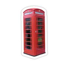 London Telephone Booth Sticker by Elle Fennah