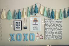 Cheap Teen wall stuff for girls | DIY Cheap Bedroom Wall Art in Blue Color Scheme - Use J/K to navigate ...