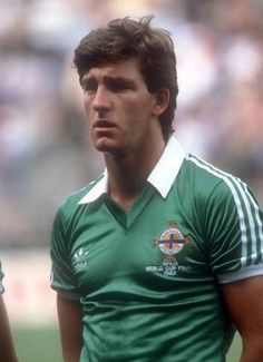 Norman Whiteside of Northern Ireland at the 1982 World Cup Finals. Northern Ireland Fc, Northern Irish, 1982 World Cup, Fifa World Cup, Norman Whiteside, Chris Nicholls, Queens Park Rangers, World Cup Final, World Football