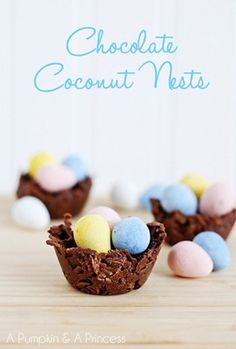 Easter Dessert: Chocolate Coconut Nests