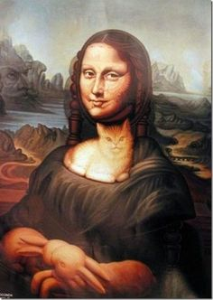 Mona Lisa camouflage art (The more you look, the more you see.)