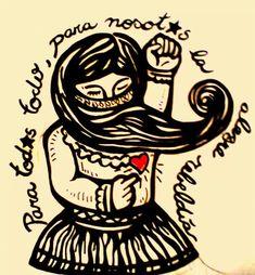 tatuajes glow in the dark Protest Kunst, Protest Art, Zine, Arte Latina, Feminist Tattoo, Chicano Tattoos, Mexico Art, Folk, Political Art