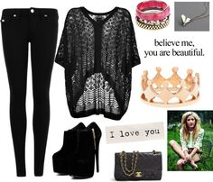 """""""Believe me, you are beautiful."""" by iloveyoutothemoonandback ❤ liked on Polyvore"""