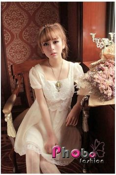 Phobo Fashion Beige Pretty Prinzessinen Sweet Spitze koreanische Kleid  Bestell-Nr.asf2737  Herst.Nr: #4020    If you like this Product, please feel free to repin. We will offer 10% discount for every product you repin. we deliver worldwide only 4,90€ shipping cost, any questions? just write on comments 25,90€