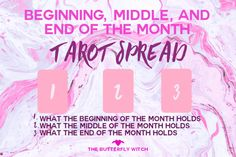 The Butterfly Witch - 3 Card #Tarot Spread to see how your month will go!