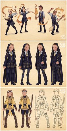 Ilvermorny School Uniforms by Azure-and-Copper