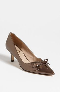 These metallic bronze pumps are comfortable for travel and will go with most of this profile's corporate clothing. Joan & David 'Gardner' Pump | Nordstrom