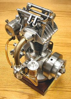 Model engine--one off engines--very rare! Motor Engine, Motorcycle Engine, Car Engine, Steam Engine, Mechanical Art, Mechanical Engineering, Combustion Engine, Ex Machina, Small Engine