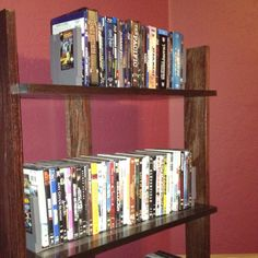 Bookshelf with video game book ends.