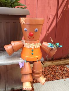 My clay pot people creations by Christie Carriere**