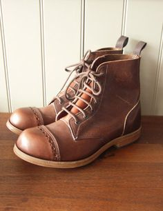 Old Town Clothing - classic British workwear - Holt, Norfolk: Derby Boot - brass screwed, stitched, heavy duty sole - hard core!