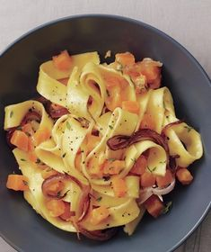 The tender pumpkin and caramelized onions give this pasta dish a natural sweetness. Get the recipe for Buttery Pappardelle With Pumpkin and Caramelized Onions.