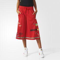 adidas Pharrell Williams Artist Culottes - Red | adidas US