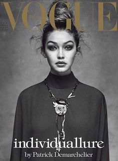 Gigi Hadid by Patrick Demarchelier for Vogue Italia April 2016 Cover - Valentino. Gigi Hadid by Pa Patrick Demarchelier, Vogue Covers, Vogue Magazine Covers, Foto Fashion, Vogue Fashion, Fashion Models, Trendy Fashion, Sweet Fashion, Style Fashion