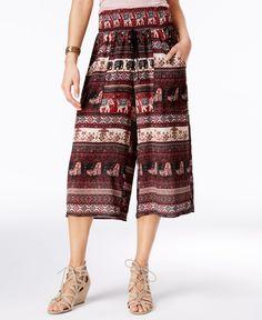 American Rag Printed Gaucho Pants, Only at Macy's