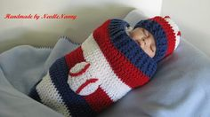 Rangers Baseball Baby Cocoon Photo Prop Baby by NeedleNanny, $35.00
