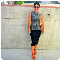 DIY Peplum Top + Pencil Skirt + Pattern Review Vogue 8815  Fashion, Lifestyle, and DIY