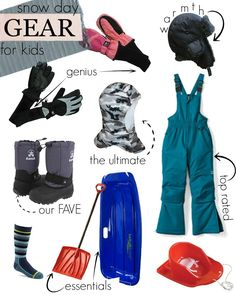 Best snow gear for kids! A collection of top rated winter gear for the snow loving loves in your life.