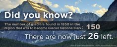 Do you know how many glaciers are left in Glacier National Park?