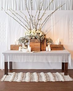 Smart Space - Escort cards hang behind the guest book table, which later became the dessert bar.
