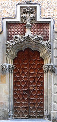 Door in Barcelona, Spain - photo by Arnim Schulz, via Flickr